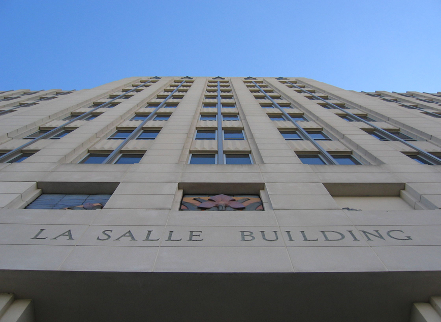 La Salle Building Sculptures